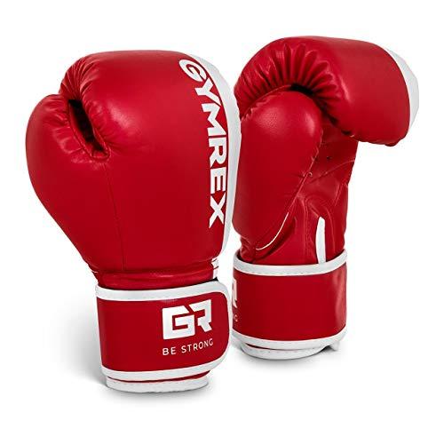 Gymrex GR-BG 6B Boxhandschuhe Kinder Jugend Boxen Handschuhe Boxsport 6 oz rot-weiß