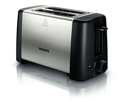 Philips HD4825/99 Toaster Metall Schwarz Daily 2-Schlitz 800 W Krümelschublade