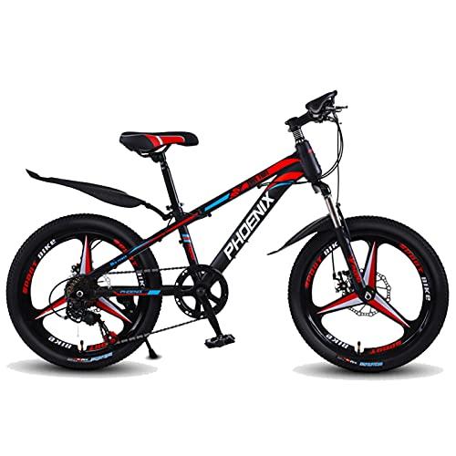 Axdwfd Infantiles Bicicletas Bicicleta para niños 20 Pulgadas, Bicicletas en Marco de Acero Altas de Carbono, para 9-14 años de antigüedad. (Color : Red)