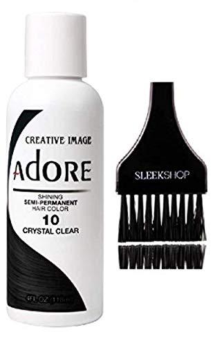 ADORE Creative Image Shining SEMI-PERMANENT Hair Color (STYLIST KIT) No Ammonia, No Peroxide, No Alcohol Haircolor Semi Permanent Dye (10 Crystal Clear)