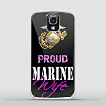 Usmc Marines Marine Corps Proud Wife Design for Samsung Galaxy and Iphone Case (Samsung S4 white)