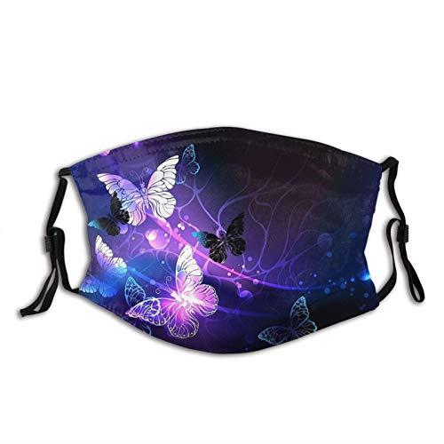 Fashion Schmetterling Gesichtsmaske Schal Waschbar Wiederverwendbare Atmungsaktive Bandana mit 2 Filtern Für Damen & Herren