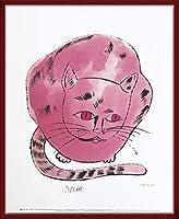 ポスター アンディ ウォーホル Hot Pink Sam 1954 額装品 ウッドベーシックフレーム(レッド)