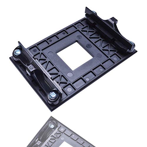 Placa Posterior De La CPU, Placa Posterior De Plástico para El Estante Inferior del Ventilador del Radiador Adecuado para El Soporte AM4 AMD B350 X370 A320 Motherboard (Black)