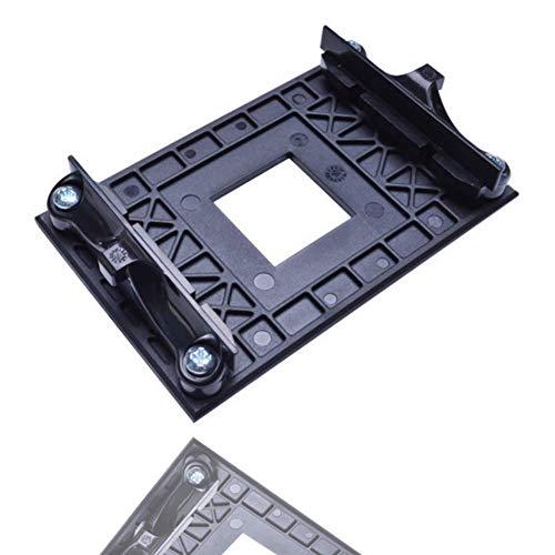 NMD&LR CPU-Rückplatte, Kunststoff-Rückwandplatine Für Das Untere Regal des Kühlerlüfters Geeignet Für AM4 AMD-Halterung B350 X370 A320-Motherboard (Black)
