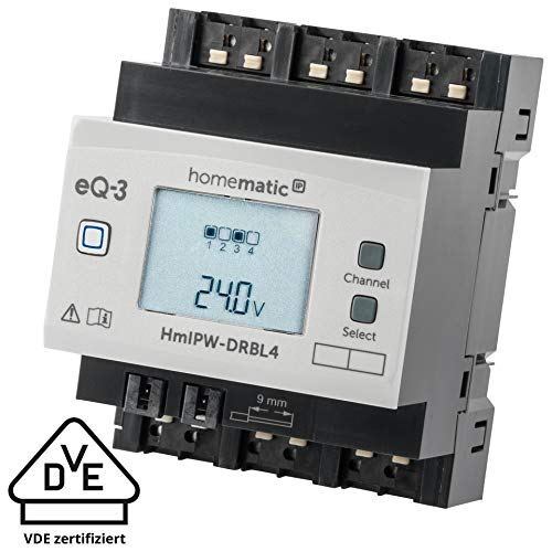 Homematic IP Wired 4-fach-Jalousieaktor HmIPW-DRBL4