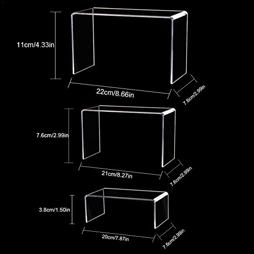 Acryl Display Acrylglas Figuren Ständer Plexiglas Acryl- 3 Sätze Von Acryl Schuhe Unterstützung Schuhregal Zubehör Stand-Kosmetik Display Stand Bag Täglichen Bedarfs Halterung Schmuck Display Riser