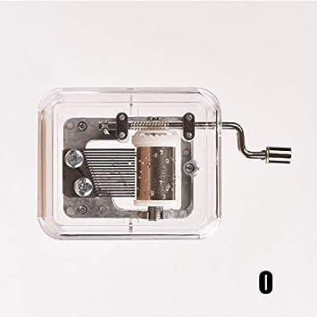 Mini movimentazione Fai da Te in plastica Trasparente per Musica Interessante I CerisiaAnn Rettangolare Carillon a manovella