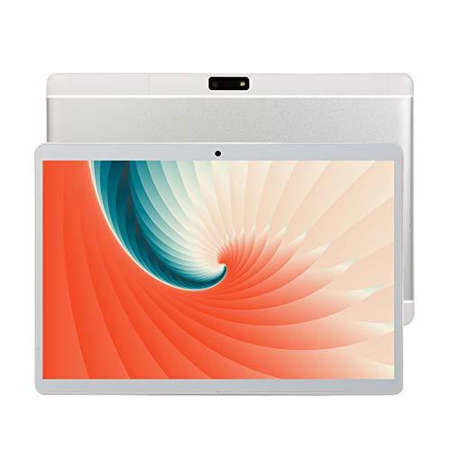 HJGHY Tableta de 10 Pulgadas, Android 8.0 Tabletas de Tarta 1GB RAM 16GB ROM, Quad-Core, Pantalla HD, Cámara Dual, Dual 3G SIM, 8800mAh, WiFi,Plata