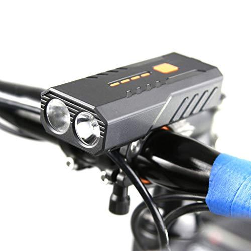 Team99 Bicicletas faro potente antorcha cuerno luces noche montar bicicleta recargable Ciclismo iluminación dispositivo modificación equipo piezas accesorios