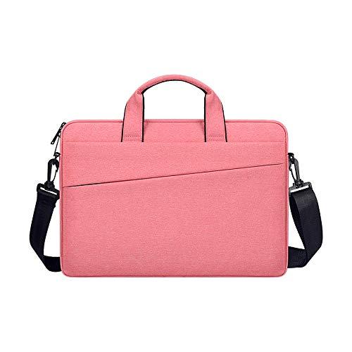 Bolso portátil 13.3/14 / 15.6 Pulgada Funda de Manga de la Bolsa para el Cuaderno Impermeable para MacBook Air Pro 13 15 Hombro del Hombro-Rosa_13 Pulgadas