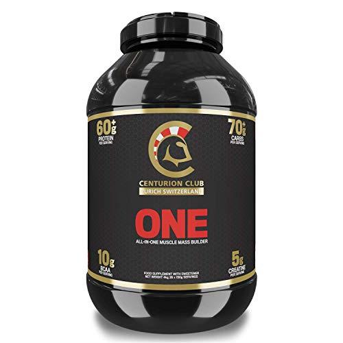 Centurion Club Nutrition ONE All-in-One-Nahrungsergänzung mit magerem Proteinpulver zum Muskelaufbau - 4 kg (26 Portionen), Erdbeere