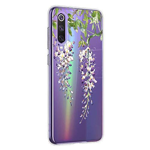 Oihxse Mandala Motif Case Compatible pour Huawei Mate 30 Pro Coque Transparente Silicone TPU Souple Protection Etui Ultra Slim Mehndi Floral Datura Dentelle Housse Bumper (A10)