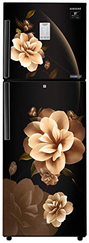 Samsung 253 L 2 Star Inverter Frost-Free Double Door Refrigerator (RT28T3932CB/HL, Camellia Black, Convertible)