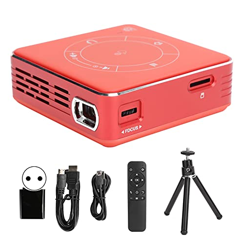 Proyector 4K de alta diferenciación inalámbrico, C99 Proyector de video portátil Mini Home Theater Dispositivo en pantalla HD con luz LED para teléfono inteligente / PC / TVBox / Laptop / PS4(rojo)