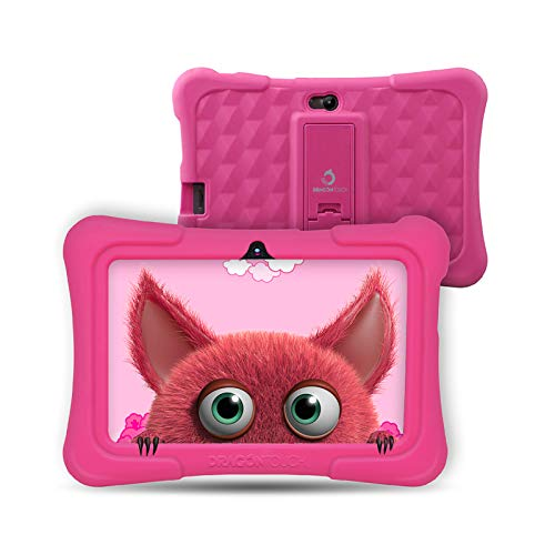 tablet dragon touch Dragon Touch Y88X PRO Tablet per Bambini 7 Pollici Android 9.0 Quad Core 2 GB RAM 16 GB Rom Wi-Fi e Bluetooth IPS HD 1024 * 600 Kidoz e Google Play preinstallato con Kid-Proof Custodia (Rosa)