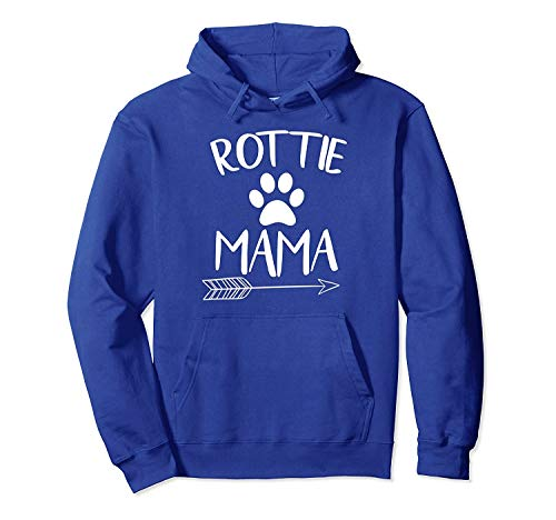 Rot.tie Mom Shirt Dog Mama Cute Women Hoodie Gift Front Print Hoodie for Men and Woman