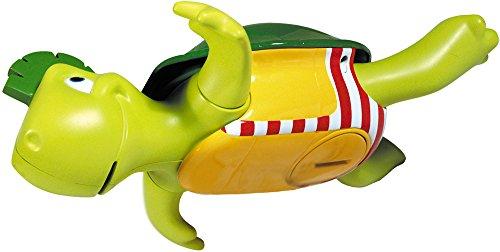"""TOMY Wasserspiel für Kinder, \""""Plantschi die singende Schildkröte\"""", hochwertiges Babyspielzeug mit Musik, vereint Badespielzeug und Musikspielzeug, ab 12 Monate! Badewannenspielzeug für Wasserspiele"""