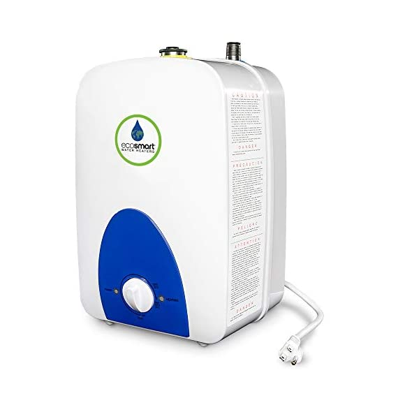 Ecosmart eco mini 1 1. 5-gallon 120v electric mini tank water heater,white 3 sleek and compact design with digital output temperature display ecosmart tankless water heaters are 99. 8-percent energy efficient manufactured in united states