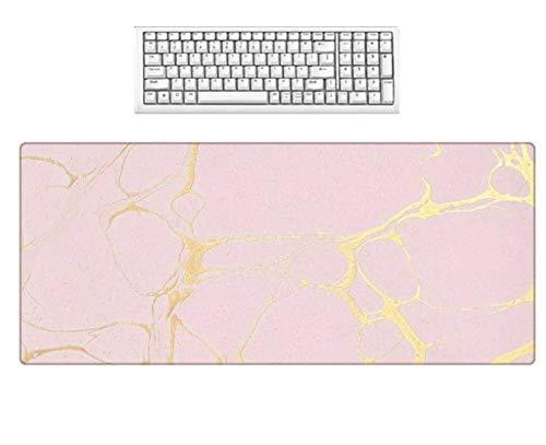 Roze behang groot formaat muismat anti-slip niet-vervagen wasbaar bureaublad decoratieve matten speler Computer Gaming Mouse Mat 900 * 400 * 3 Mm