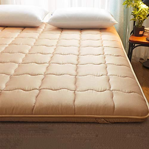 Tina Algodón Colchón de futón Tradicional japonés,Super Suave 5 cm Gruesas Anti alergénica Ergonómico Dormitorio...