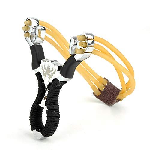 Leistungsstarke Jagd Slingshot Alloy Catapolt Dickes Handgelenkband Katapult Sport Outdoor Jagd Slingshot Bow Rubber