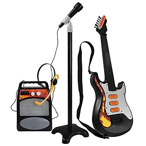 Conjunto de guitarra para niños, juguete de instrumentos musicales de karaoke, 6...