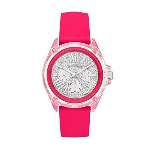 Michael Kors Reloj Analógico para Mujer de Cuarzo con Correa en Silicona MK6677
