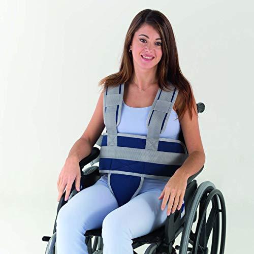 Adiggy Medical | Bauchgurt mit Stamm und Becken Befestigung für Rollstuhl oder Zuhause | Clipverschluss für schnelles An- und Ausziehen Talla 1