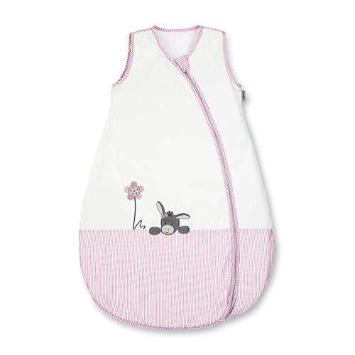 Sterntaler Sommer-Schlafsack für Kleinkinder, Reißverschluss, Größe: 110, Emmi Girl, Weiß/Rosa