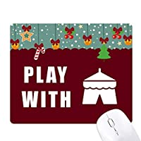 テントキャンプ ゲーム用スライドゴムのマウスパッドクリスマス