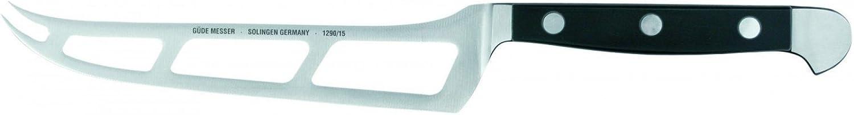 Güde Käsemesser ALPHA Serie Klingenlänge  15 cm POM schwarz, schwarz, schwarz, 1290 15, Messer - Solingen - Deutsche Qualität,  robust - scharf - geschmiedet - hochwertig B000Q87E7I 92d30c