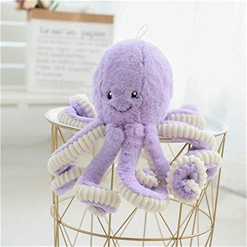 Yuhualiyi123 Kissen 40-80 cm Schöne Simulation Octopus Anhänger Plüsch Stofftier Weiche Tier Wohnaccessoires Niedlichen Tier Puppe Kinder Geschenke Kissen (Color : Purple, Size : 40cm)