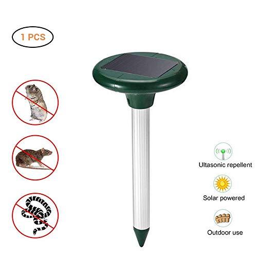 CHUTD Dispositivo de expulsión Solar Vibración electrónica Repelente ultrasónico de Animales y plagas Repelente de pájaros Impermeable al Aire Libre Mouser Adecuado para jardín de Rancho de Granja