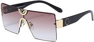 GODYS - Hombres europeos y americanos s gafas de sol de moda retro metal damas marco grande cara redonda gafas de sol-Gold_Frame_Gradient_Tea