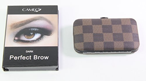 Cameo Cosmetics Perfect Brow- Dark + 1 Dark Brown Fingernail Manicure Care Case set