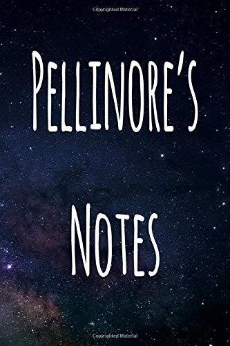 Pellinore's Notes: Personalised Name Notebook - 6x9 119 page custom notebook- unique specialist personalised gift!