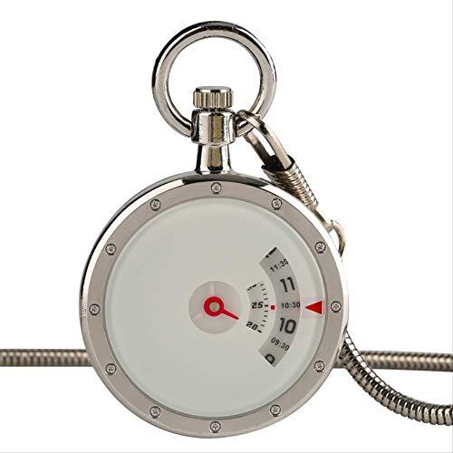 FYXYN Reloj de Bolsillo Reloj de Bolsillo de Cuarzo Placa giratoria Blanca...
