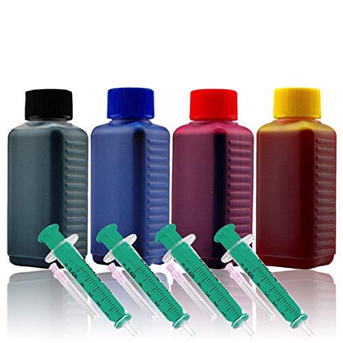 Cenado 400ml Nachfülltinte Druckertinte Refillset für Canon-Druckerpatronen PG-545 PG-545XL CL-546 CL-546XL inkl. Zubehör