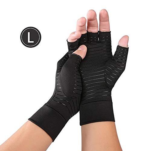 Rosepoem Cobre Protección de Las Manos de Compresion de Artritis Sin Dedos para Hombre y Mujer, Alivio del Dolor para la Artritis reumatoide, el túnel carpiano, la osteoartritis y la tendinitis