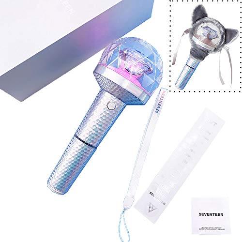 Seventeen Light Stick Ver.2 Calidad Oficial Carat Bong Lightstick, Conecte La Aplicación De Teléfono Móvil A Través De Bluetooth para Cambiar El Modo De Luz Y El Color (T9)