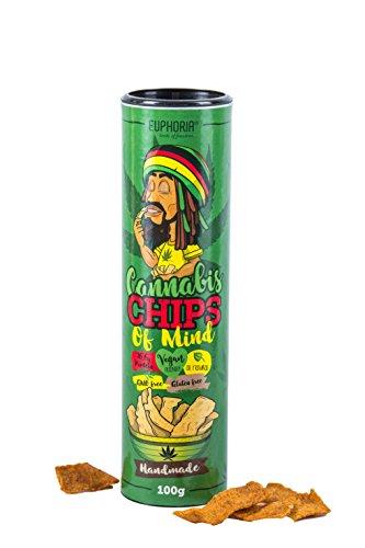 Euphoria Cannabis Chips | Erbsenmehl Chips mit Hanfsamen - Glutenfrei - Vegan (Hemp seeds)