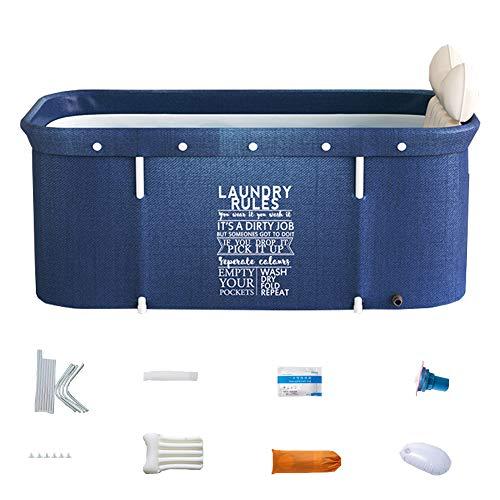 Bañera plegable portátil para adultos, 120 cm, no inflable