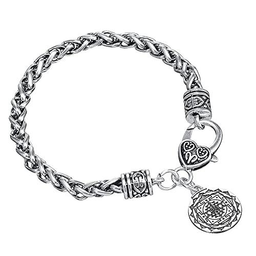 JIEZ Nueva riqueza hindú diosa colgante pulsera yoga talismán amuleto hindi joyería para hombre/mujer