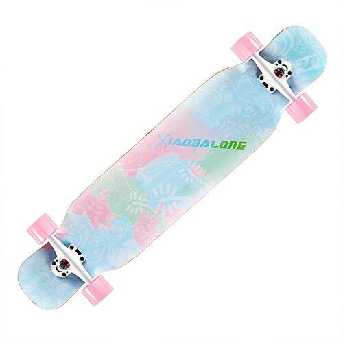 HUADUO Maple Longboard Skateboard Jungen und Mädchen Brush Street Dance Board Anfänger Adult Youth Skateboard Sports Board-Farbe-D