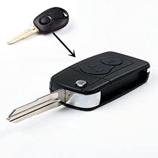 New 2 Button Smart Uncut Keyless No chip Entry Topq Folding Flip Fob Car Key shell Remote Case for Ssangyong Actyon SUV Rexton