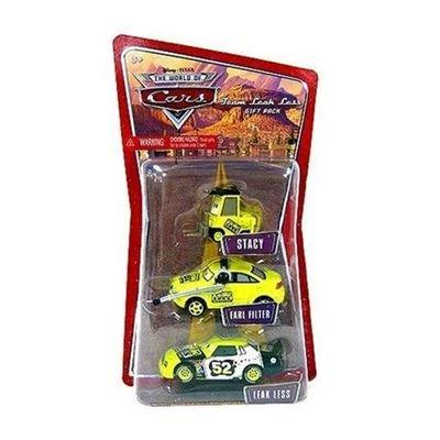 Disney / Pixar CARS 1:55 Die Cast Figure 3-Pack Team Leak Less (Stacy, Earl Filter and Leak Less)