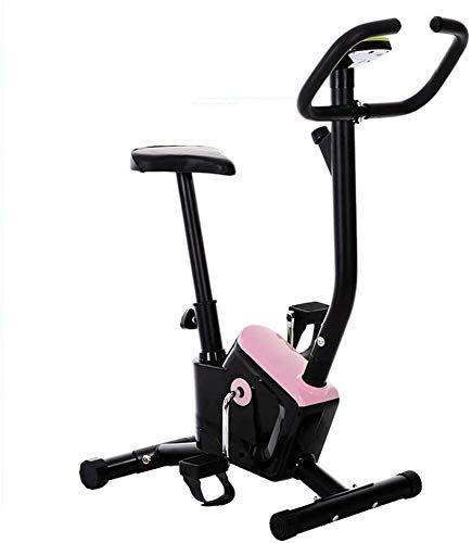 HYM Cubierta Plegable Vertical Bicicleta estática magnética Tranquila Ejercicio Bicicleta Fija Ajustable Equipo de la Aptitud for el hogar Cardio Training Entrenamiento (Color : Pink)