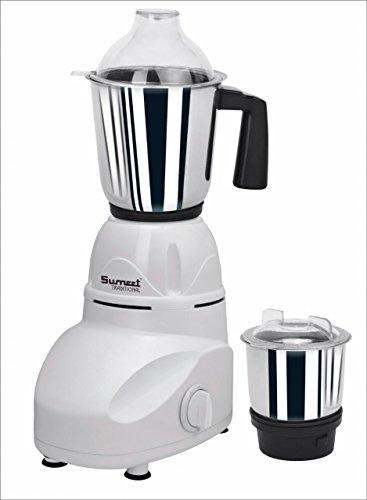 Sumeet Traditional Bandhabi 550-Watt Mixer Grinder with 2 Jars (White)