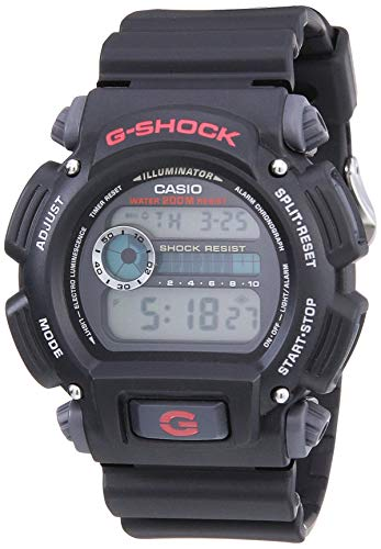 Casio G-Shock Quartz Watch with Resin Strap, Black, 25 (Model: DW9052-1V)